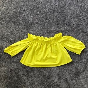 Cropped Yellow Blouse